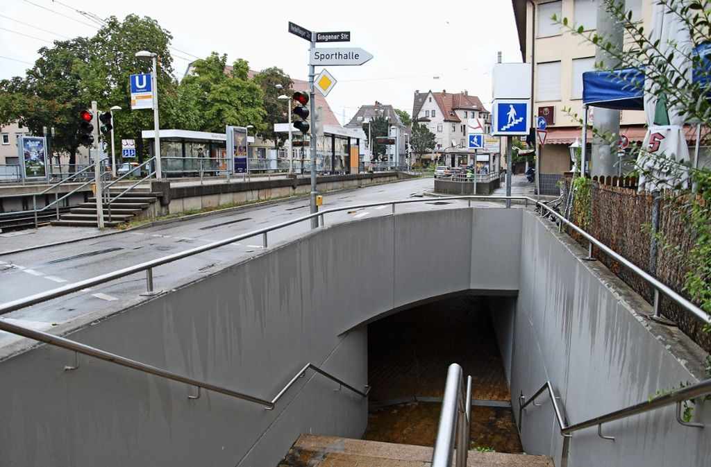Die Unterführung am Wangener Marktplatz Foto: Kuhn