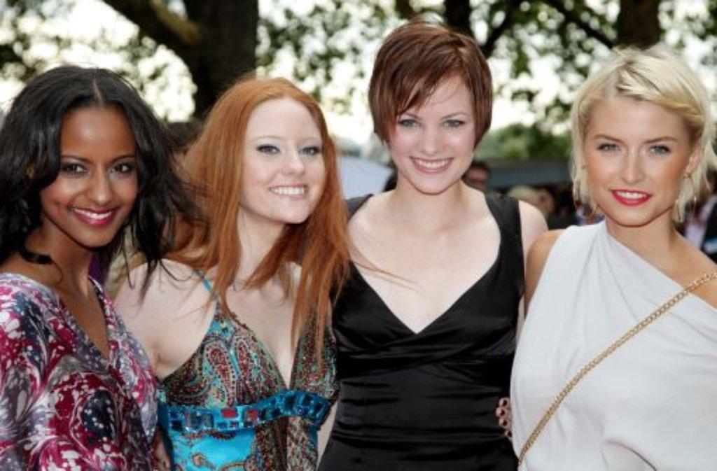Sara Nuru, Barbara Meier, Jennifer Hof und Lena Gercke (von links) - echte Topmodels sind sie zwar nicht, aber alle im Modebusiness mehr oder weniger erfolgreich.  Foto: dpa