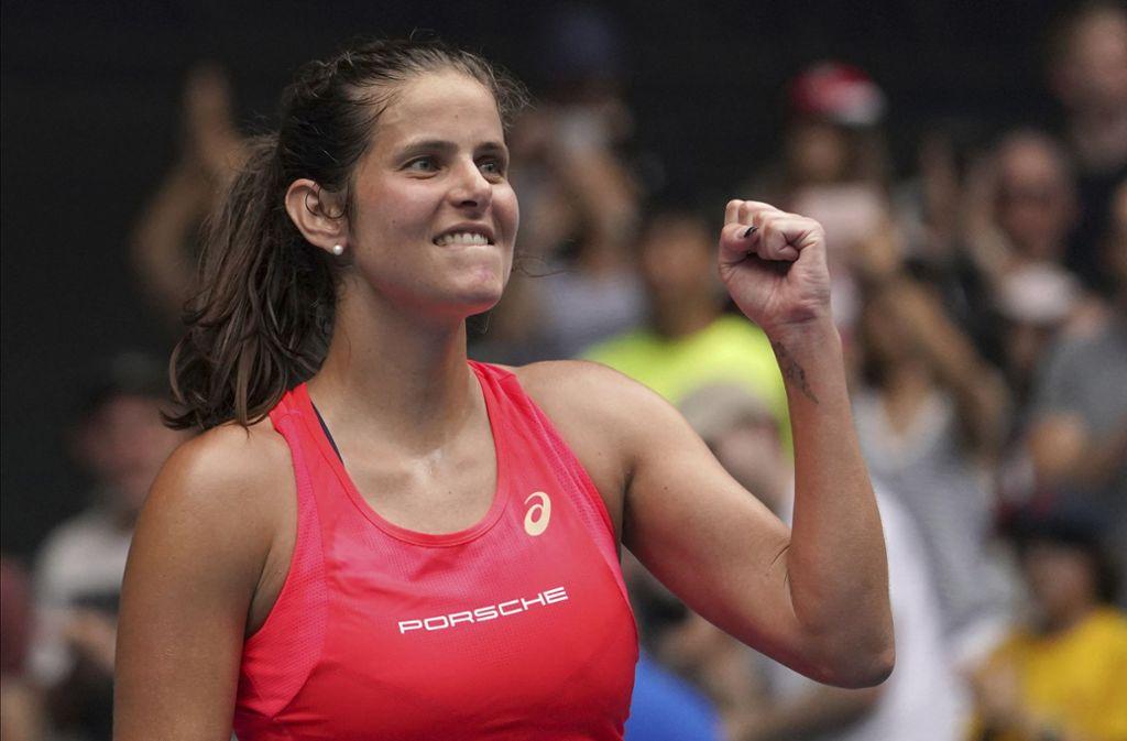 Erfolg für Julia Görges bei den Australian Open in Melbourne. Foto: AP/Lee Jin-man