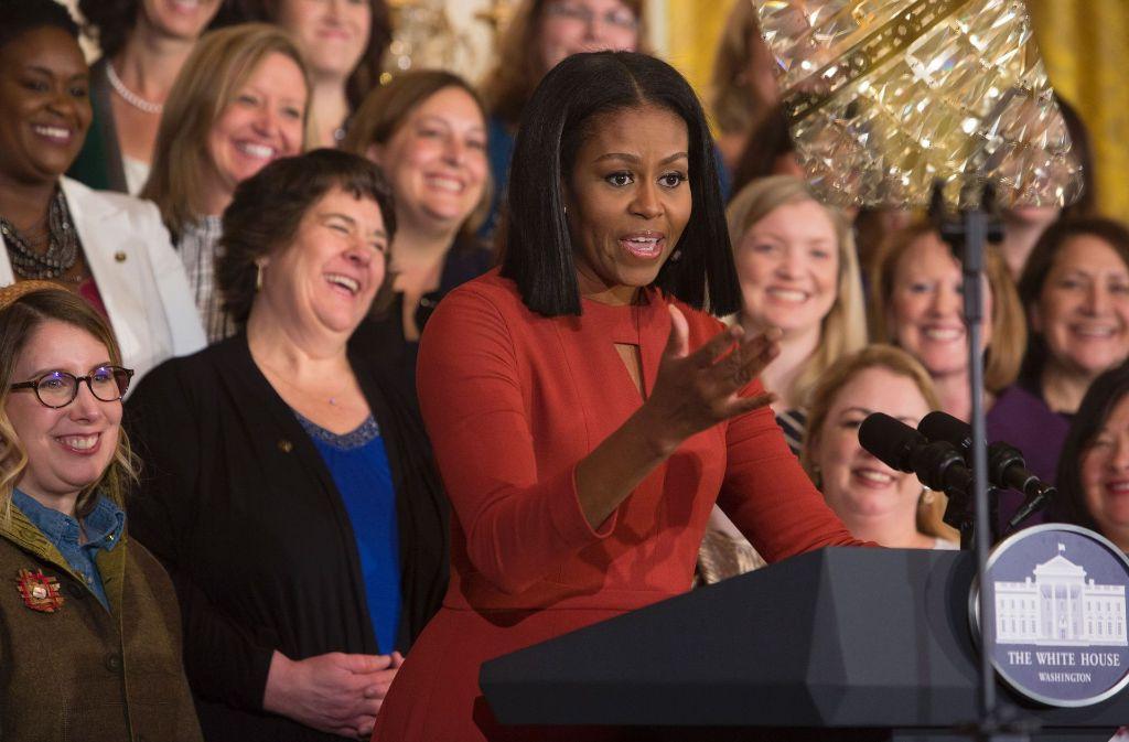 Gleichberechtigung von Afroamerikanern, LGBT-Rechte und der Kampf gegen Übergewicht von Kindern – das waren Michelle Obamas wichtigste Anliegen in ihrer Zeit als First Lady. Foto: AFP