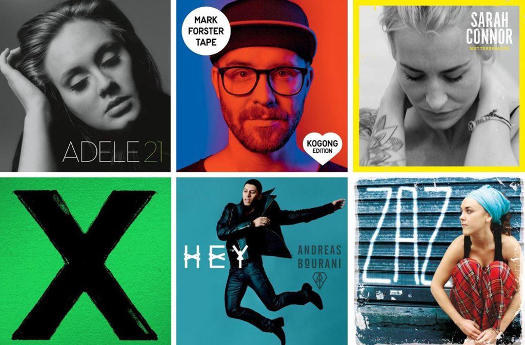 Neben Adele und Ed Sheeran haben es auch Mark Forster, Sarah Connor, Andreas Bourani und Zaz in die Top Ten der 2010er Jahre geschafft. Auf welchen Plätzen sie gelandet sind und wer noch dabei ist, erfahren Sie in unserer Bildergalerie. Foto: Label