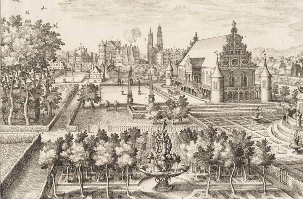 Der Stuttgarter Lustgarten spielt in der deutschen Geschichte des Spargels eine wichtige Rolle. Foto: Stadtarchiv Stuttgart