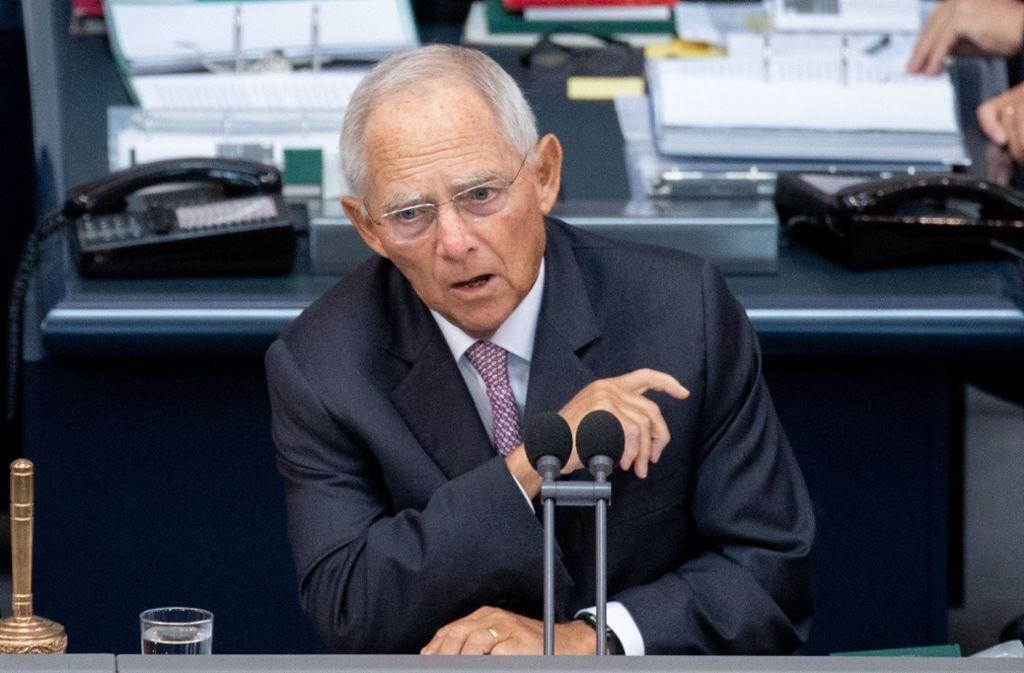 Wolfgang Schäuble hat einen Favoriten für die Nachfolge von Angela Merkel als CDU-Vorsitzender. Foto: dpa
