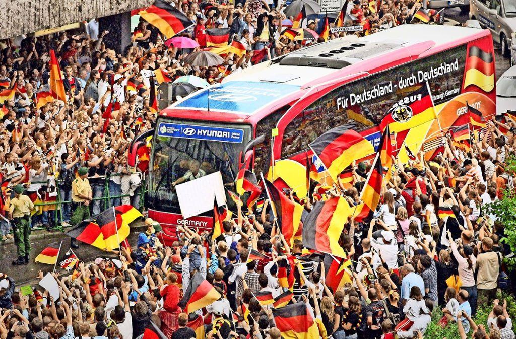 Ein Highlight in der Stuttgarter Sportgeschichte: Die Fußball-WM 2006 mit dem DFB-Team. Foto: Baumann