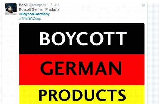 Boykottaufrufe gegen Deutschland bei Twitter