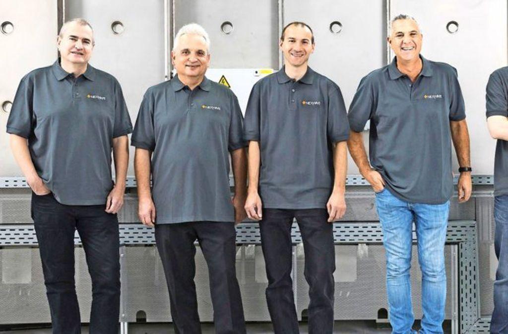Die Mannschaft von NexWafe: Frank Siebke, Karl Friedrich Haarburger, Stefan Reber, Roy Segev, Kai Schillinger (v.l.). Foto: NexWafe