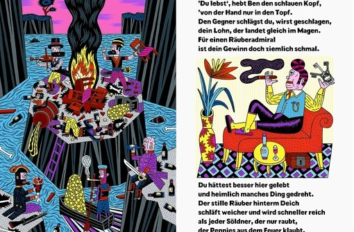 Bei Henning Wagenbreth sieht das Piratenleben lustig aus. Foto:Literaturhaus Foto: