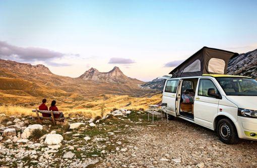 Mit dem Campervan  raus in die Natur