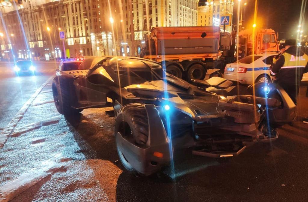 Das Batmobil fuhr ohne Zulassung in Moskau. Foto: dpa