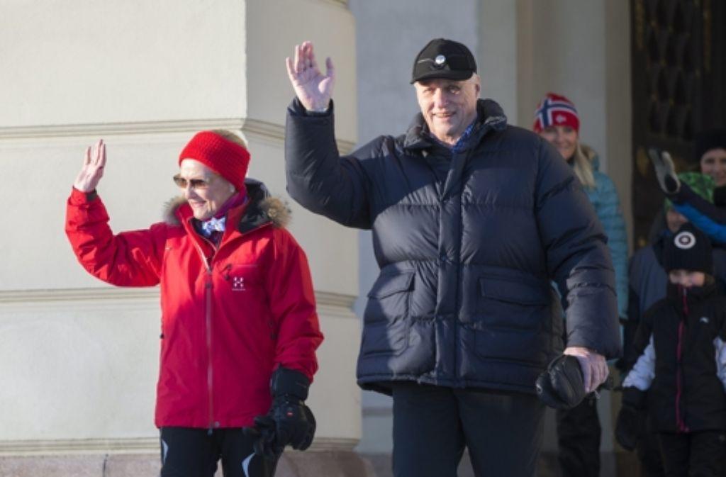 König Harald V. und Königin Sonja feiern  25. Thronjubiläum. Foto: dpa