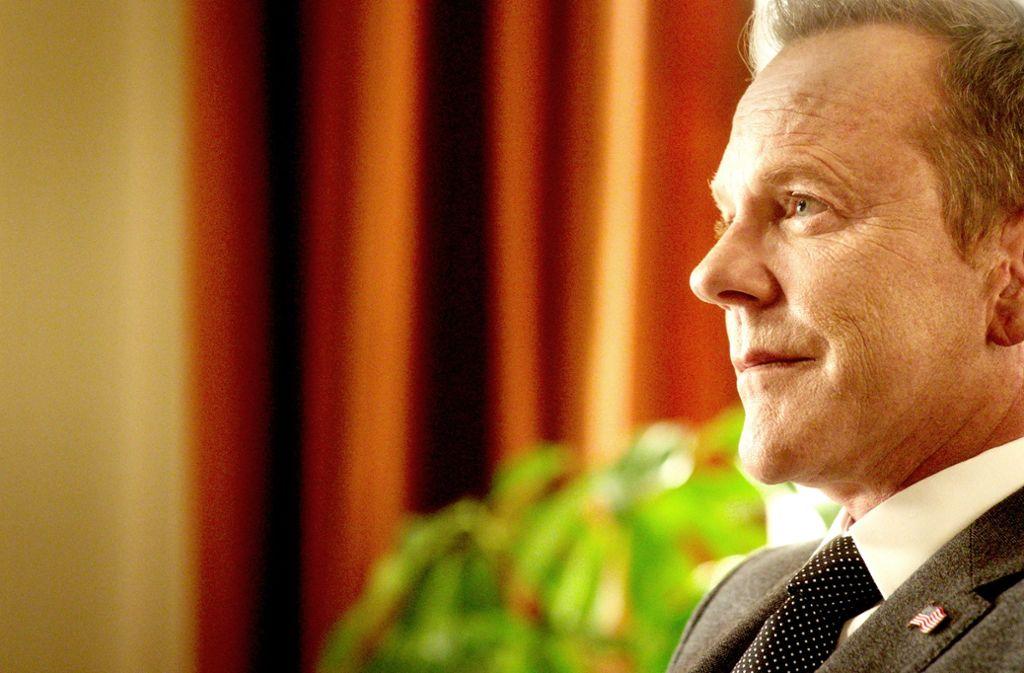 So einen rechtschaffenen US-Präsidenten würden sich viele Europäer wünschen: Kiefer Sutherland als Tom Kirkman Foto: Netflix