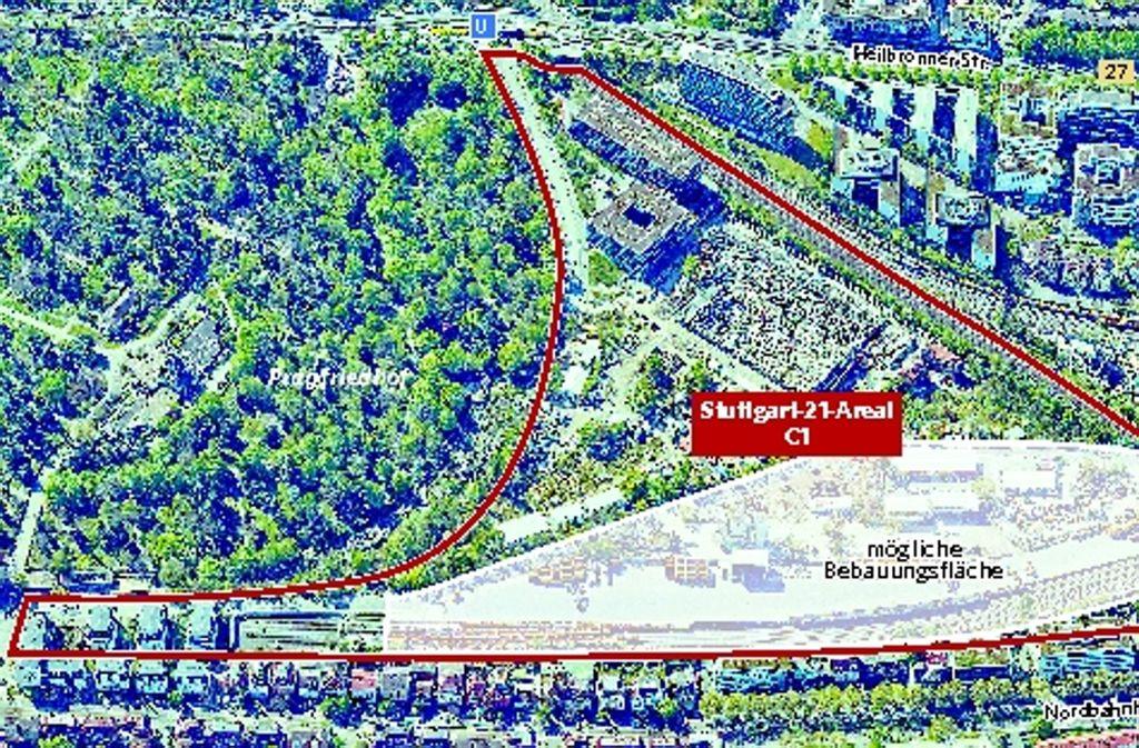 Auf der Teilfläche C1 eröffnen sich beim Städtebauprojekt Stuttgart21 die ersten Möglichkeiten für den geplanten Wohnungsbau. Foto: