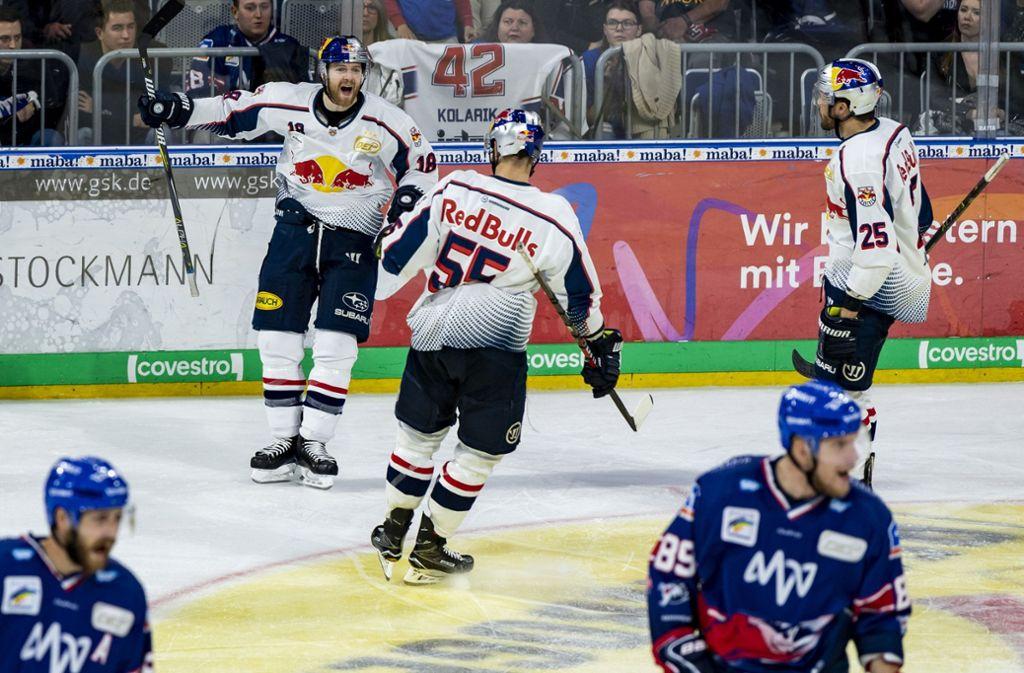 Red Bull setzte sich in Spiel eins gegen Mannheim durch. Foto: Bongarts