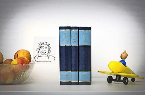 Die drei Bände sind  immer noch blau