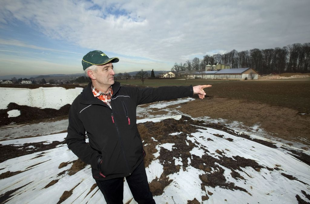 Seit 2012 möchte Wolfgang Daiber auf seinem Hof eine Biogasanlage bauen. Foto: Horst Rudel/Archiv