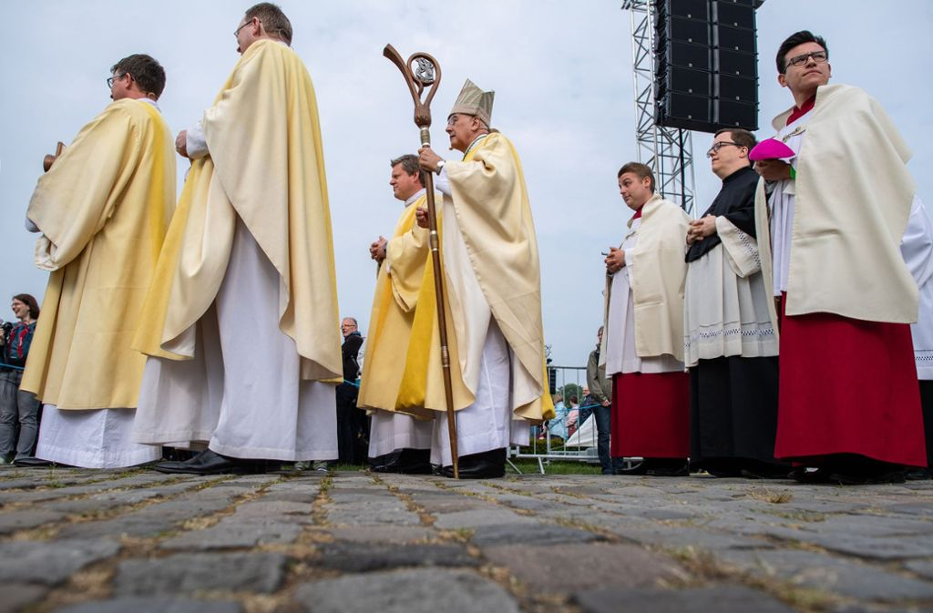 Die traditionsreiche Bischofsstadt Münster ist von Donnerstag an bis zum Sonntag Gastgeber des 102. Katholikentages Foto: dpa