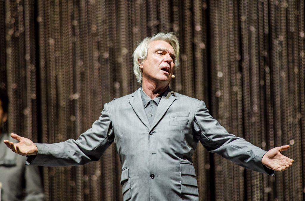 Der Ex-Talking-Head David Byrne beim Auftritt im Berliner Tempodrom Foto: Getty