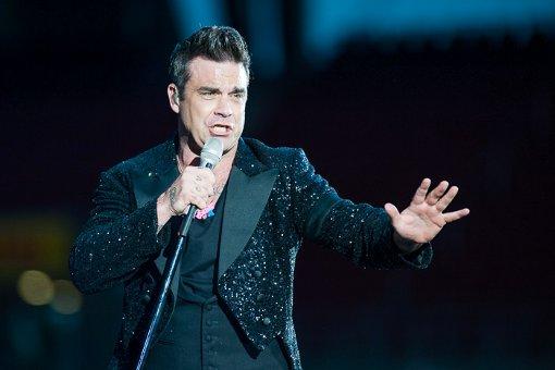 Robbie Williams im Fußballstadion