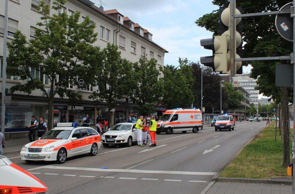 In der Reutlinger Innenstadt ist es am Sonntagnachmittag zu einem dramatischen Zwischenfall gekommen. Foto: 7aktuell.de/Zahn