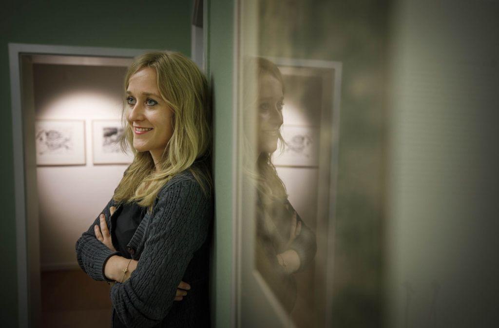 Celia Haller-Klingler in der neuen Dauerausstellung im Helferhaus. Foto: Gottfried Stoppel