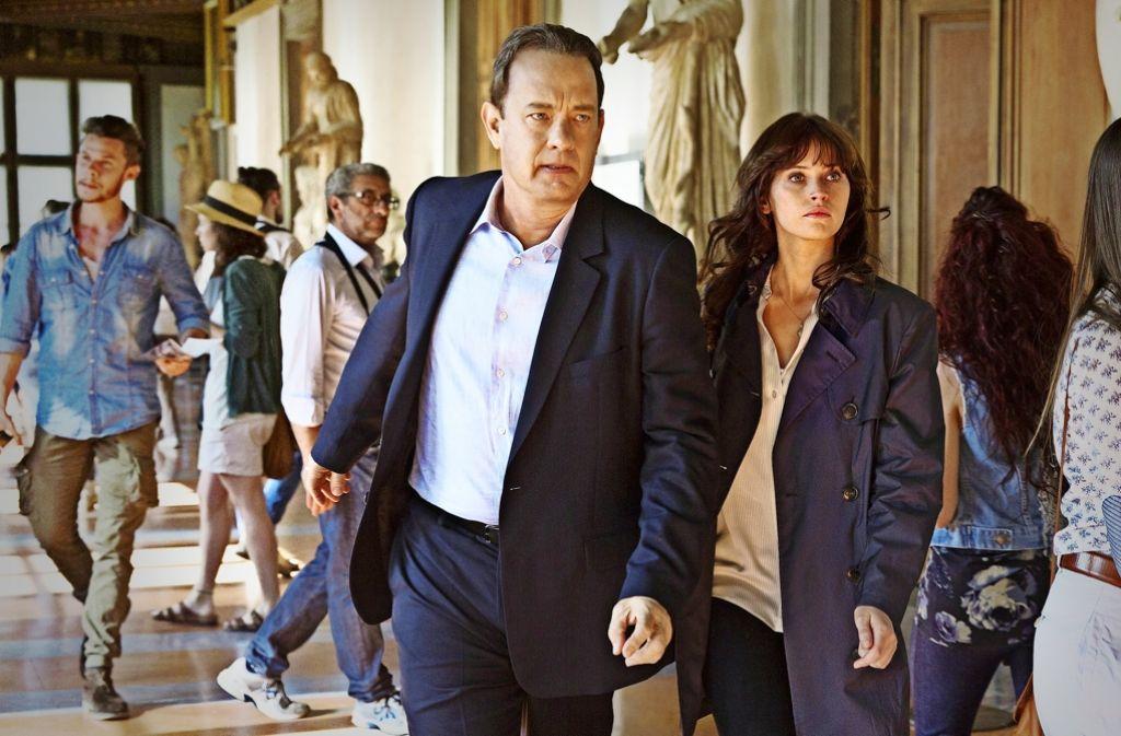 Robert Langdon (Tom Hanks) und Sienna Brooks (Felicity Jones) auf Schnitzeljagd: Es geht wie immer ums Ende der Welt. Foto: Sony Pictures