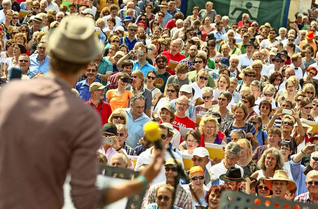 Am Sonntag Beim offenen Singen geht es vor allem um Spaß. Foto: Remstal-Gartenschau