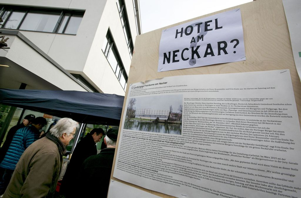 Im Januar und Februar hatte die Bürgerinitiative  gegen die umstrittenen Hotelpläne mobil gemacht. Foto: Horst Rudel