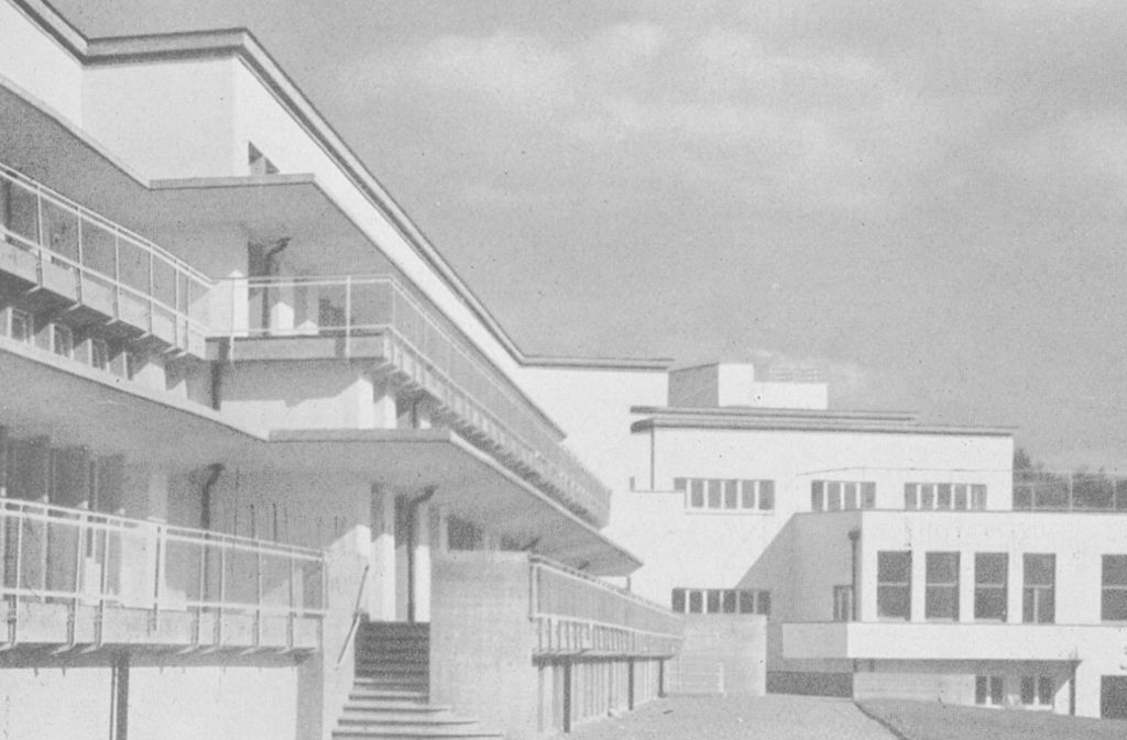 Terrasse als Prinzip: das Bezirkskrankenhaus in Waiblingen, das 1959 abgerissen wurde Foto: Freunde der Weißenhofsiedlung