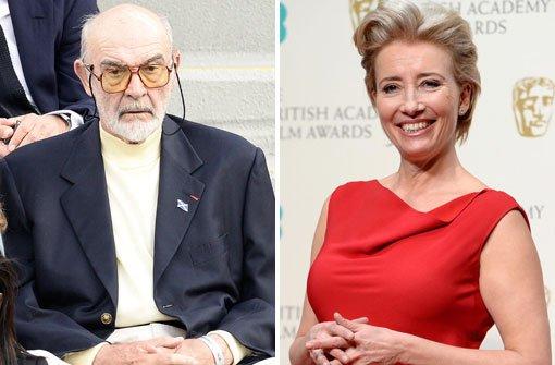 Connery wirbt für Yes, Emma Thompson wählt No