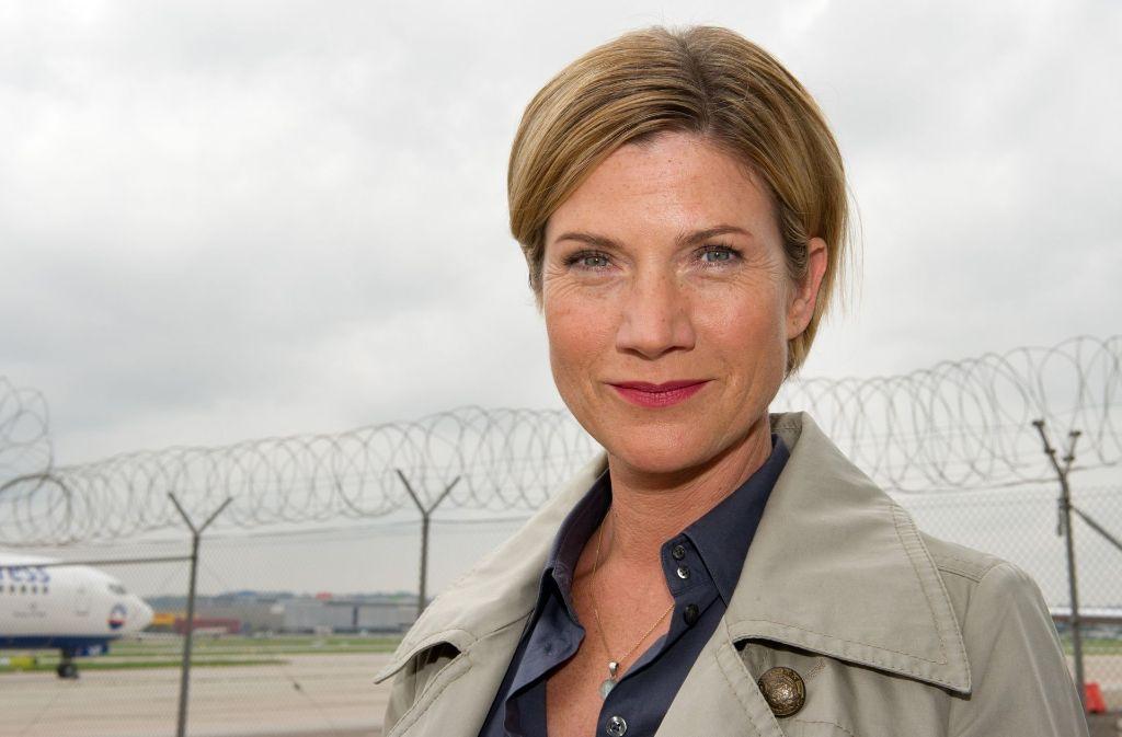 Die Schauspielerin Astrid Fünderich als Kriminalhauptkommissarin Martina Seiffert, Leiterin der SOKO in der TV-Serie Soko Stuttgart. Foto: dpa