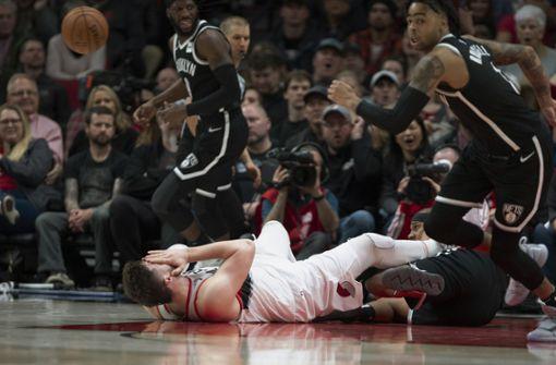 Horrorverletzung überschattet NBA-Spiel in Portland