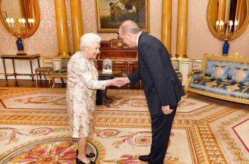 Erdogan wird von Queen empfangen