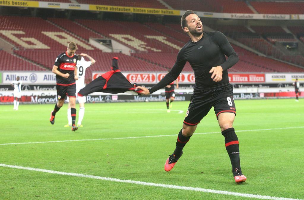 Gonzalo Castro erzielte den entscheidenden Treffer zum 3:2 für den VfB. Foto: Pressefoto Bauman/Hansjürgen Bri/Hansjürgen Britsch