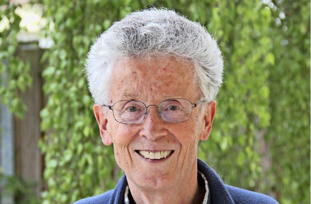 Eine aktuelle Aufnahme von Wolfgang Meyle. Von 1980 bis 2008 war er Bezirksvorsteher von Zuffenhausen. Foto: Bernd Zeyer