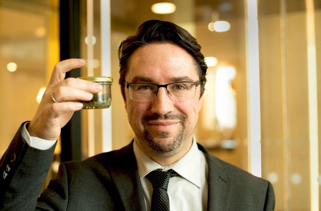 Eine Kostprobe von der   Mooswand vom Neckartor gedeiht im   Glas. Foto: Lg/Leif Piechowski