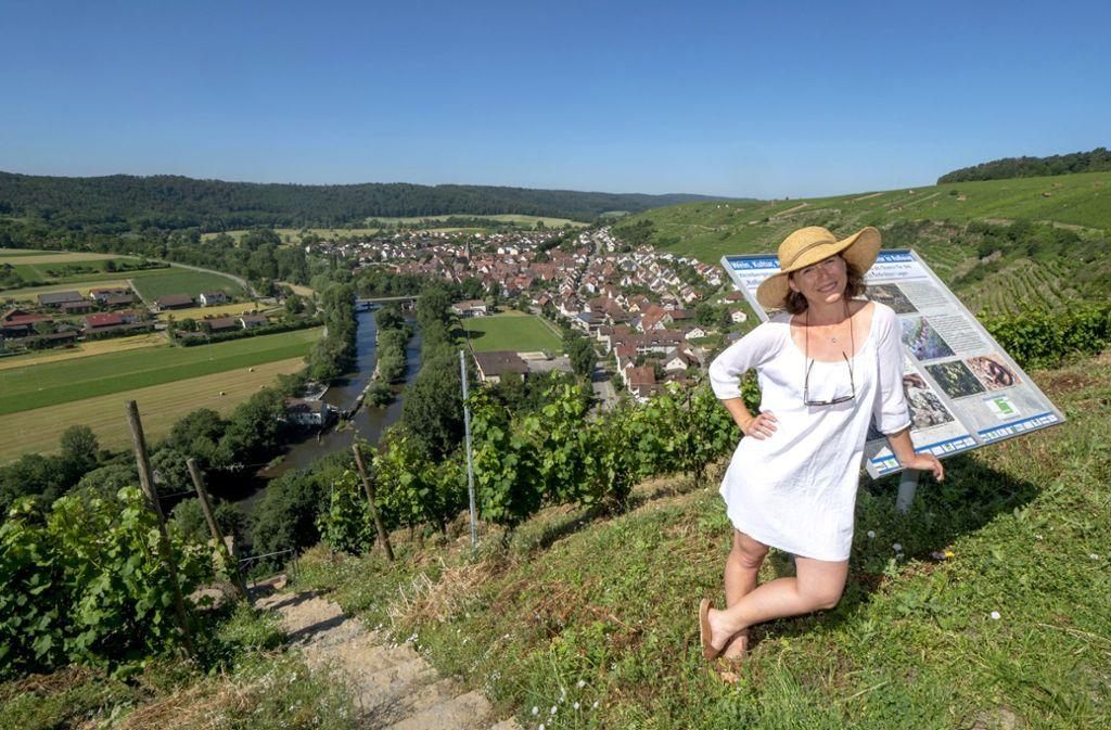 """Olympia Samara sagt über den Weinbau in Steillage: """"Ich finde, es ist der gesündeste Job für Kopf und Körper."""" Foto: factum/"""