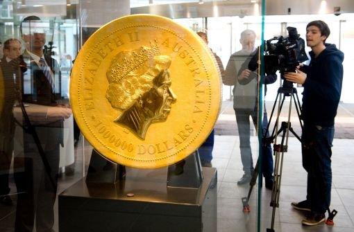 Rekordmünze in Stuttgart ausgestellt