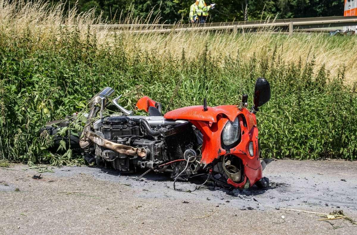 Der Unfall ereignete sich auf der Kreisstraße 1029 bei Herrenberg. Foto: SDMG/Dettenmeyer