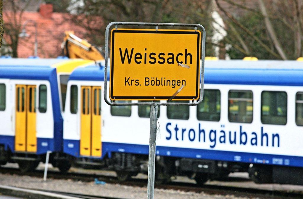 Die Strohgäubahn hält in Weissach: Zu einer solchen Aufnahme – wie hier im Jahr 2008 – wird es so schnell nicht kommen. Foto: factum/Archiv