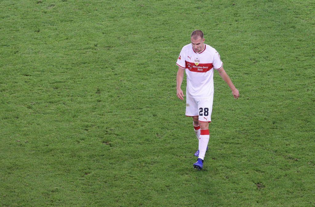 Holger Badstuber vom VfB Stuttgart steht vorerst nicht auf dem Fußballplatz. Foto: Pressefoto Baumann