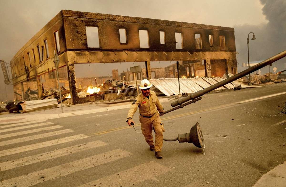 Früher Goldgräberstadt, nun vom Feuer zerstört: Greenville in Nordkalifornien. Foto: dpa/Noah Berger