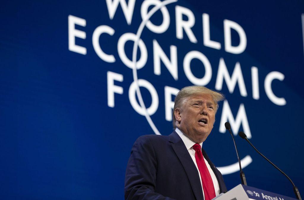 Donald Trump attackierte Greta Thunberg auf dem Weltwirtschaftsforum. Foto: AP/Evan Vucci