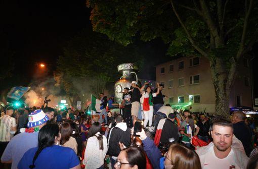 Italienische Fans feiern EM-Sieg zum Großteil friedlich
