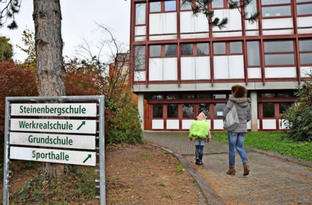 Nach dem Entscheid gegen ein Gymnasium ist die Zukunft der Steinenbergschule derzeit offener denn je. Foto: Georg Linsenmann