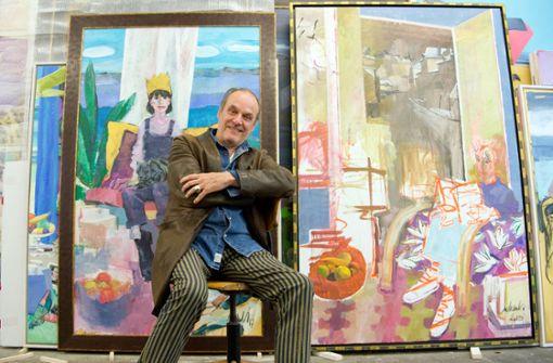 Der Protest des Malers und seiner Mitstreiter