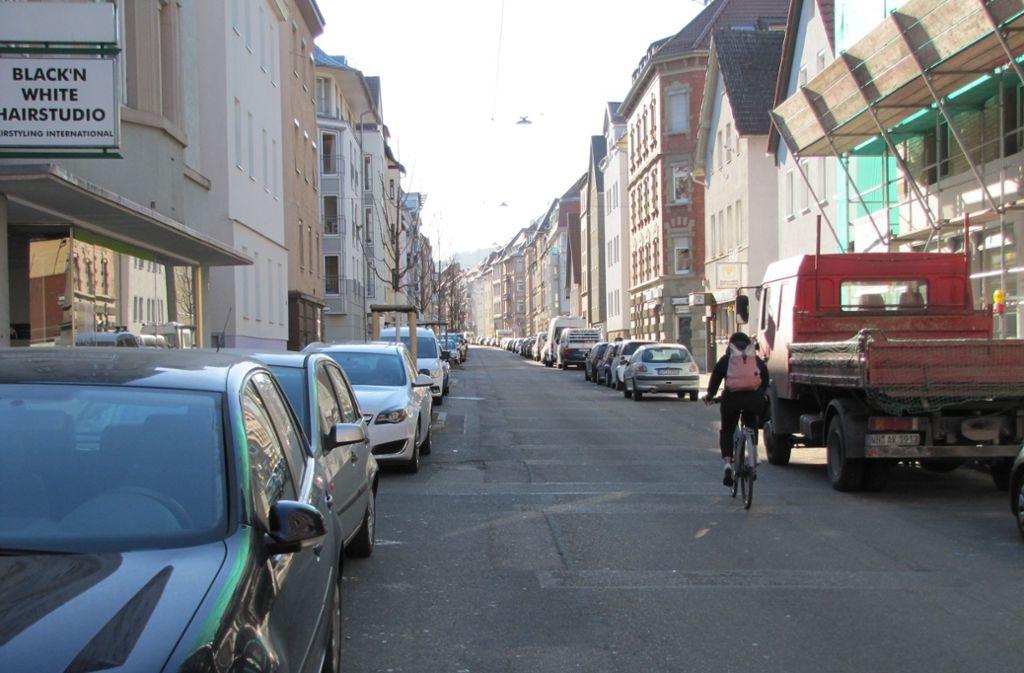 Freie Fahrt : Die Möhringer Straße soll zur Fahrradstraße werden.. Foto: David Mairle