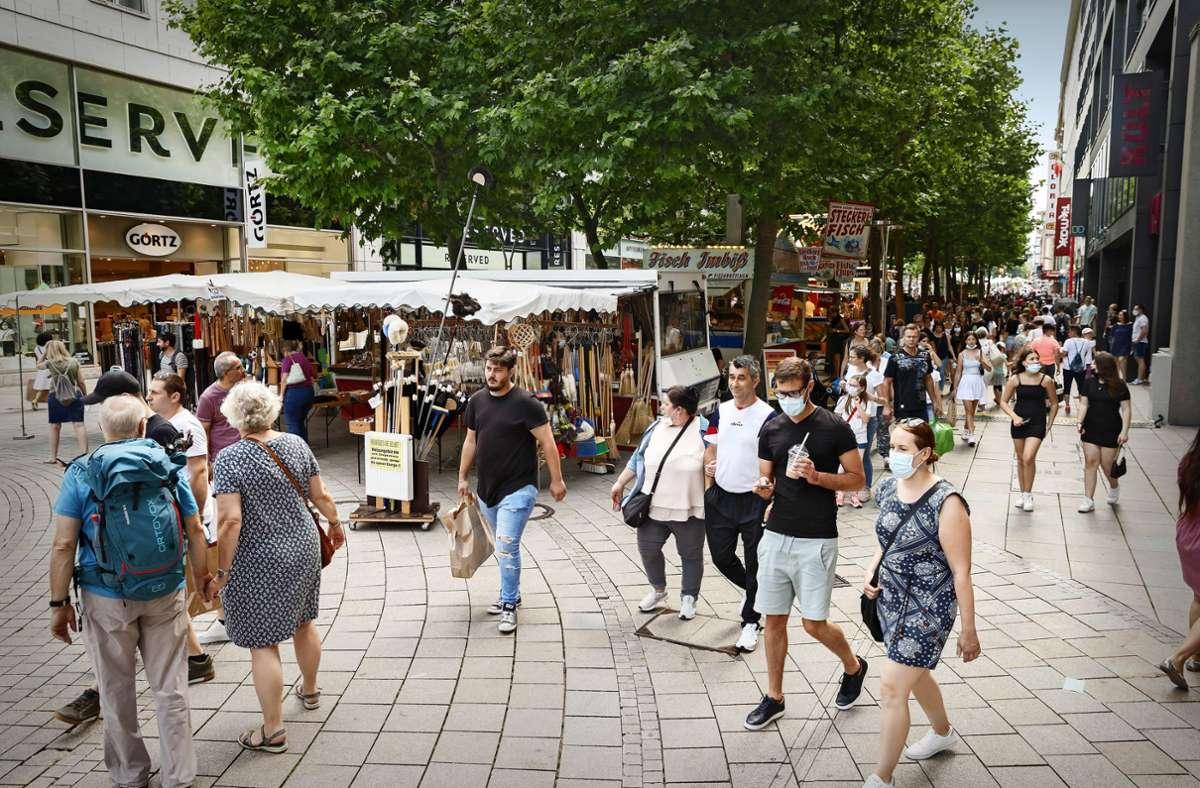 Auch in Stuttgart steigen die Inzidenzen wieder. Foto: Lichtgut/Julian Rettig
