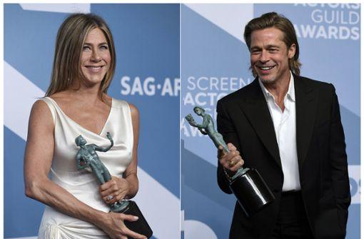Brad Pitt trägt die Haare schön wie Jennifer