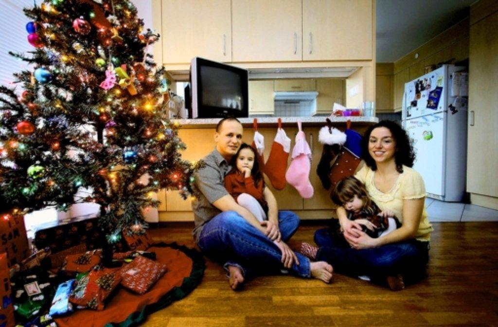 Lucas, Shayanne, Payton und Nicole Hoskins (von links) Foto: factum