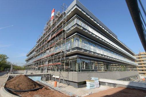 Der Neubau am Robert-Bosch-Krankenhaus im April